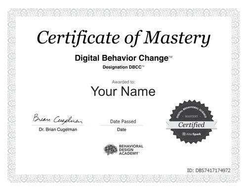 Behavioral Design Certification - DBCC